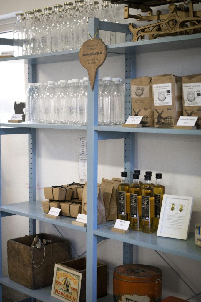 Produkter från gårdsbutiken kullagård